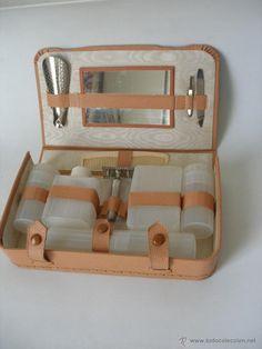 Neceser de viaje caballero con maquinilla de afeitar - años 60