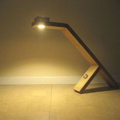 Desk Lamp: If you spend a lot of hours behind your desk in the evenings, than good lighting is crucial. Make yourself this ecological and economical efficient desk lamp. The total cost of the led lamp plus dimmer plus power supply = 26 dollar. Desk Lamp, Table Lamp, Study Lamps, Office Lamp, Farmhouse Lamps, Woodworking Lamp, Palette, Wooden Lamp, Desk Light