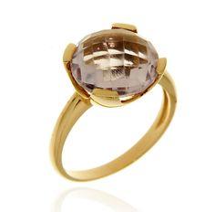 MILANO 14 Ref: 37989 Sortija realizada en oro rosa. Una amatista engastada por cuatro garras planas, es el centro de la pieza.