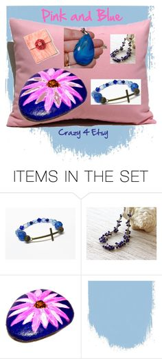 """Pink and Blue - Crazy 4 Etsy"" by vanessa-stuart-carretta ❤ liked on Polyvore featuring art, pinksandblues and MyCreativeSideJewels"