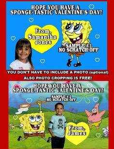 spongebob valentines day cards personalized - Spongebob Valentine Cards
