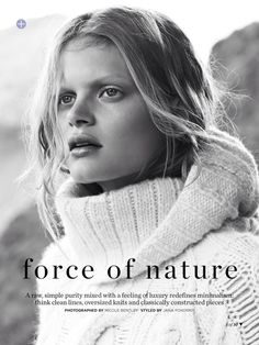 visual optimism; fashion editorials, shows, campaigns & more!: force of nature: nathalia oliveira by nicole bentley for marie claire australia june 2014 #fashion #photography