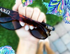 Sunglasses with Sorority Rayban Inspired by PreppyPineappleShop