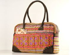 Overnight Weekender Travel Bag Ethnic Embroidered 76969b00cd5ee