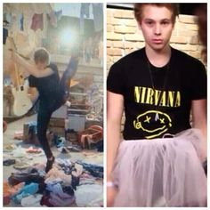 Luke Hemmings the first aspiring punk ballerina #5SOSLivestream oh my gosh XD