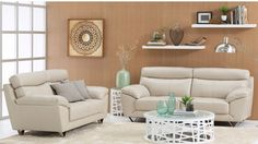 Chloe 2 Piece Leather Lounge Suite - Lounges - Living Room - Furniture, Outdoor & BBQs | Harvey Norman Australia