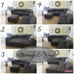 """Ginny from The Simple Moms: """"I walked in Costco and there it was! In my head there angels singing and a spotlight on the couch. Living Room Sectional, Cozy Living Rooms, Home Living Room, Apartment Living, Living Room Furniture, Living Room Designs, Living Room Decor, Love Sac Sectional, Sectional Couches"""