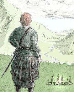 Me encanta! #JamieFraser #Outlander FanArt encontrado en Pinterest