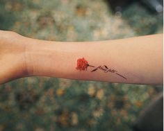 small rose tattoo #Ink #Youqueen #girly #tattoos #rose #flower