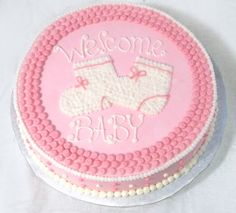 Easy Baby Girl Shower Cakes | Cake Gallery at Brandie's Custom Cake Creations!
