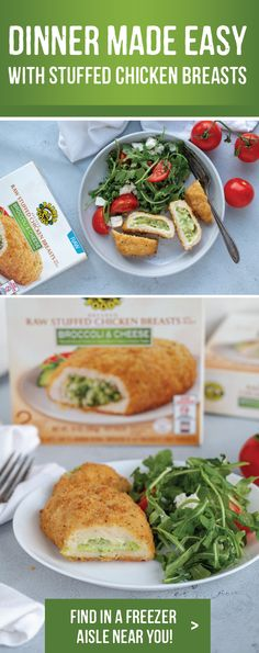 Discover new delicious recipes to complement Barber Foods stuffed chicken breasts with adding the perfect side dish, salad or sauce. Barber Foods, Delicious Food, Tasty, Healthy Food, Healthy Recipes, Stuffed Chicken, Broccoli And Cheese, Cordon Bleu, Entree Recipes