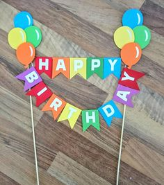 Rainbow balloon cake bunting, Circus Cake Bunting, balloon themed Decoration, First Birthday, Happy Birthday Cake Topper Circus Birthday, Birthday Board, Circus Party, Birthday Party Themes, Balloon Cupcakes, Balloon Cake, Cake Bunting, Cake Banner, Circus Cakes
