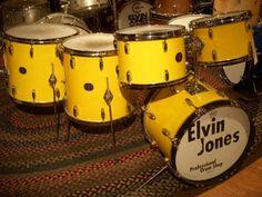 Elvin Jones yellow Gretsch kit from 1970's