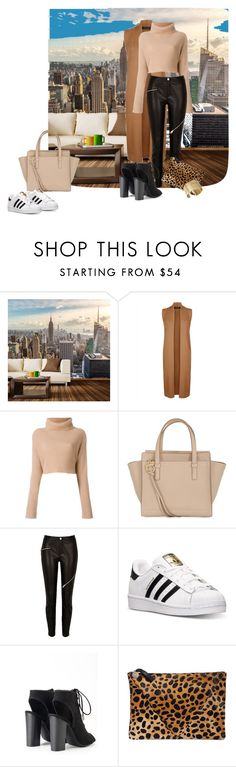 """Hello New York"" by lilivals ❤ liked on Polyvore featuring Walls Need Love, Jaeger, Salvatore Ferragamo, adidas, Clare V. and Kenneth Cole"