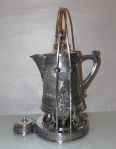 Pairpoint Victorian Antique Aesthetic Silver Plate Tipping Water Pitcher Wine   eBay