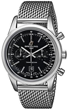 Breitling Mens A4131012BC06 Stainless Steel Automatic Watch * Click image for more details.