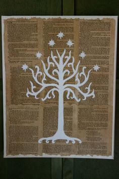 The Lord of the Rings-White Tree of Gondor Mixed-media Art