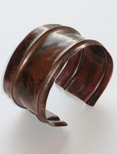 Rustic - Foldformed Copper Cuff Bracelet
