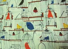 Flickr Photo Download: caged bird fabric