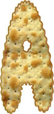 Alfabeto Decorativo: Alfabeto - Biscoito cream cracker - PNG - Maiúscul...