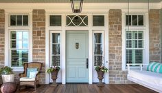 "Front door paint color is ""Sherwin Williams Sea Salt SW6204""."
