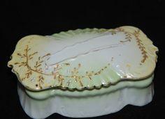 Antique Victorian Porcelain Bobbie Hair Pin Holder Vanity Dresser Box Moriage   eBay Bobby Pin Holder, Pie Dish, Butter Dish, Hair Pins, Dresser, Porcelain, Vanity, Victorian, Antiques