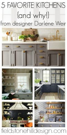 five favorite kitchens {and why!} from interior designer @fieldstonehill . A great post to help you when dreaming about your future kitchen! #kitchendesign #interiordesign #kitchenideas