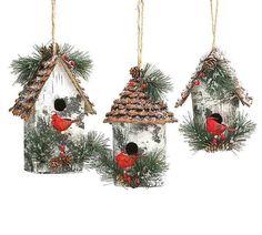Large Birdhouse Ornaments