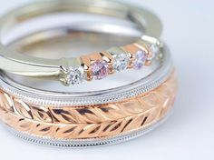 Rose and white gold by David Klass Jewelry.