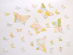 30 pastel butterflies cardboard punchies  by VeraPaperLab on Etsy, €2.20