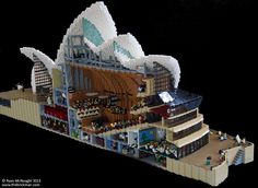Incredibly detailed Sydney Opera House Lego MOC, two years in the making