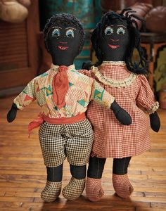 The Blackler Collection (Part 2 of 2-Vol set): 315 Pair,American Black Cloth Dolls with Embroidered Features