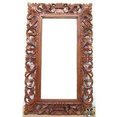 bali frame mirror wood carvings