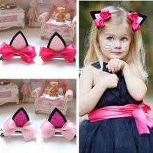 2pcs/lot children baby girls hair accessories clip hairpins barrettes headwear flower cat ears hairp  $6.49 free shipping