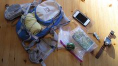 Trail Run Packing List. I like to see what others take on the run.