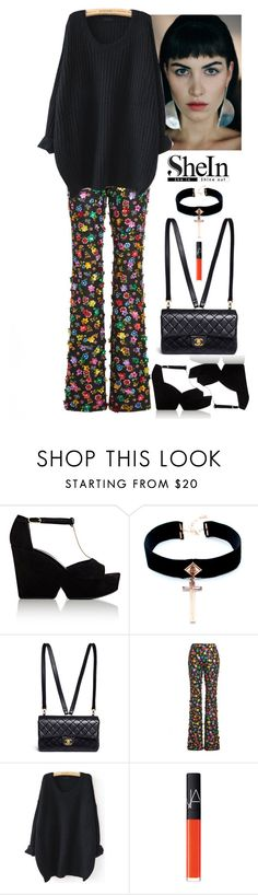 """What can be better?"" by s0f1a ❤ liked on Polyvore featuring Robert Clergerie, VSA, Chanel, Moschino and NARS Cosmetics"