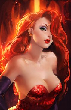 """Jessica Rabbit."" by =sakimichan - Fan Art / Drawings"