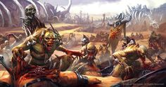 Crypt Ghouls vs Beastmen, par Maxim Timofeev, in Age of Sigmar, par Games Workshop