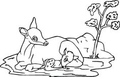 free coloring pages of baby birds in nest Sheep Mother