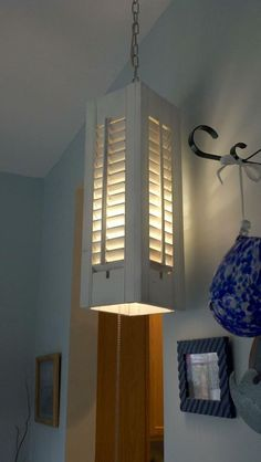 Great idea for old shutters. Can point the light up or down depending on what you need highlighted.