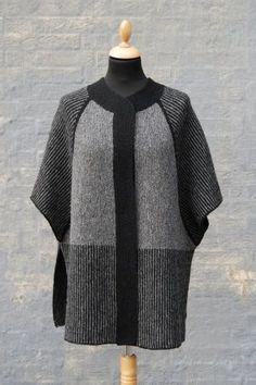 MARIAGER by Hanne Falkenberg by Jennifer Steingass, knitted by anyalulu Crochet Shawl, Knit Crochet, Poncho With Sleeves, Knitted Cape, Knit Jacket, Crochet Clothes, Cardigans For Women, Hand Knitting, Knitwear
