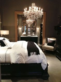 I want a chandelier in my master bedroom, beautiful!