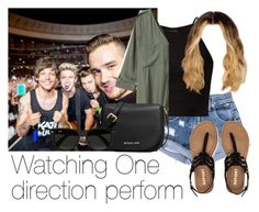 """""""Watching One Direction perform"""" by style-with-one-direction ❤ liked on Polyvore featuring мода, Aéropostale, H&M, MICHAEL Michael Kors, Ray-Ban и one direction 1d harry styles niall horan liam payne louis tomlinson"""