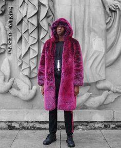 Pink fur coat men's street style | Pause Online Mag