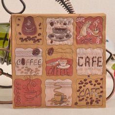 Ziarna kawy Papieru Serwetki dla Cafe Strona Wyposażenie Domu Tissue Papier Decoupage Serwetki Dekoracje Świąteczne 33 cm * 33 cm 20 sztuk/paczka