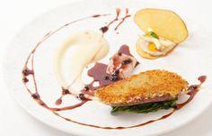 Wild duck, apple, foie gras and smoked eel