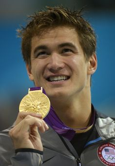Yay! I've loved Nathan Adrian since Beijing, sooooo happy he got his first individual Gold in the 100 Free!!