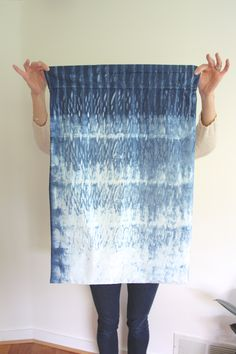 When we debuted our semi-regular feature DIY Friday, one of the tutorials I mentioned wanting to try was Shibori dyeing. I gave it a go this weekend, and I'm really happy with the results! Shibori Fabric, Shibori Tie Dye, Art Textile, Textile Fabrics, Textile Dyeing, Hippie Chic, Tie Dye Techniques, Japanese Textiles, Indigo Dye