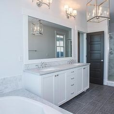 Blue and Gray Bathrooms, Transitional, bathroom, Saussy Burbank