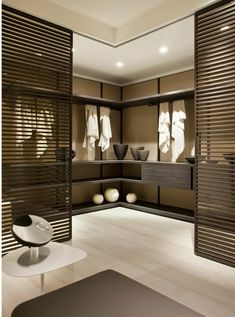 Spa room relaxing effect soft color schemes panel doors